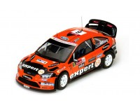 Sun Star 1/18 Ford Focus RS WRC08 n.6 H.Solberg / I.Minor Rally Mexico 2010 modellino