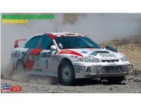 Hasegawa 1/24 Mitsubishi Lancer Evolution IV Safari Rally 97 scatola di montaggio