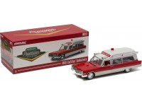 Greenlight Precision collection 1/18 Cadillac S&S 48 High Top Ambulance rosso bianco modellino