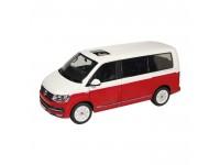 NZG 1/18 Volkswagen T6 Multivan Generation Six bianco rosso modellino