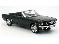 Welly 1/18 Ford Mustang Convertible 1964 nera modellino