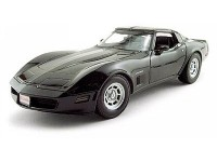 Welly 1/18 Chevrolet Corvette Coupe 1982 nera modellino