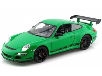 Welly 1/18 Porsche 911 GT3 RS Verde modellino