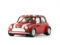 BRM Mini Cooper tetto bandiera Regno Unito Slot Car 1/24