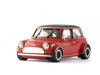 BRM Mini Cooper rossa tetto nero Slot Car 1/24