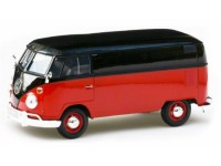 Motormax 1/24 VW T1 Transporter rosso nero modellino