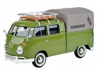 MOTORMAX 1/24 VW T1 PICKUP ROOF RACK SUIT CASE TARAPAULINE COVER VERDE MODELLINO