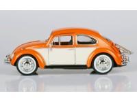Motormax 1/24 Volkswagen Beetle arancio 1966 con portapacchi posteriore modellino