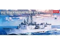 ACADEMY 1/350 USS OLIVIER HAZARD PERRY FFG-7 MODELLO IN KIT DI MONTAGGIO