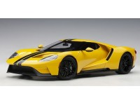 AUTOART 1/18 FORD GT 2017 TRIPLE YELLOW BLACK STRIPES MODELLINO APRIBILE