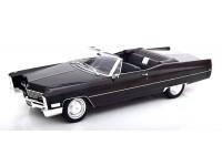 KK-SCALE 1/18 CADILLAC DEVILLE BLACK CABRIO 1968 MODEL