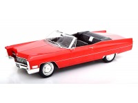 KK-SCALE 1/18 CADILLAC DEVILLE RED CONVERTIBLE 1968 MODEL