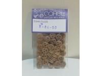 Corel bigotte confezione 50 pezzi diametro 7mm
