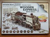 WOODEN CITY LOCOMOTIVA CON BINARI KIT MODELLISMO IN LEGNO