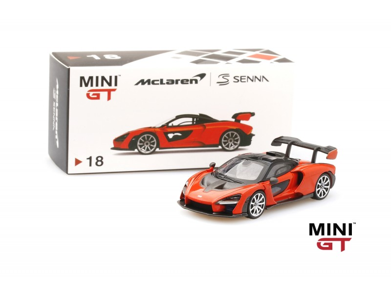 MINI GT 1/64 McLAREN SENNA MIRA ORANGE