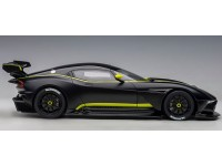 AUTOART 1/18 ASTON MARTIN VULCAN MATT BLACK LIME GREEN STRIPES MODELLINO APRIBILE