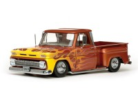 Sun Star 1/18 Chevrolet C-10 Stepside Pickup Lowrider Metallic Orange modellino