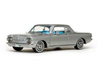 Sun Star 1/18 Chevrolet Corvair Coupe 63 Satin Silver modellino
