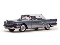 Sun Star 1/18 Buick Limited Closed Convertible Silver Mist modellino