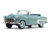 Sun Star 1/18 Chevrolet Bel Air Open Convertible Horizon Blue modellino con aperture