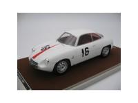 Tecnomodel 1/18 Alfa Romeo Giulietta SZ N.16 Coppa Fisa Monza 1960 modellino