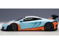 AUTOART 1/18 MCLAREN 12C GT3 BLUE ORANGE MODELLINO APRIBILE