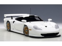 AUTOART 1/18 PORSCHE 911 GT1 1997 PLAIN BODY VERSION WHITE MODELLINO APRIBILE