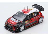 Spark Model 1/43 Citroen C3 WRC n.9 Rally Germania 2017 modellino