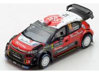 Spark Model 1/43 Citroen C3 WRC N.12 Rally di Svezia 2018 modellino