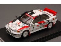 HPI RACING 1/43 MITSUBISHI LANCER EVOLUTION III N.2 SAFARI RALLY 1995 MODELLINO