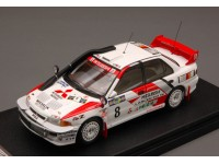 HPI RACING 1/43 MITSUBISHI LANCER EVO III N.8 SAFARI RALLY 1996 MODELLINO