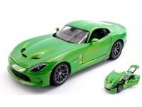 MAISTO 1/18 DODGE VIPER SRT GTS 2013 VERDE MODELLINO