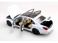 ALMOST REAL 1/18 BRABUS 900 MERCEDES MAYBACH S600 DIAMOND WHITE MODELLINO