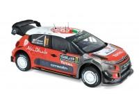NOREV 1/18 CITROEN C3 WRC N.11 RALLY DI SVEZIA 2018 MODELLINO