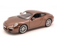 BURAGO 1/24 PORSCHE 911 CARRERA S 2012 MARRONE MODELLINO