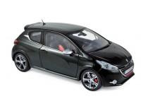 NOREV 1/18 PEUGEOT 208 GTi 2013 PERLA NERA BLACK MODELLINO