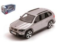 BURAGO 1/43 BMW X5 2007 COLOR ARGENTO MODELLINO