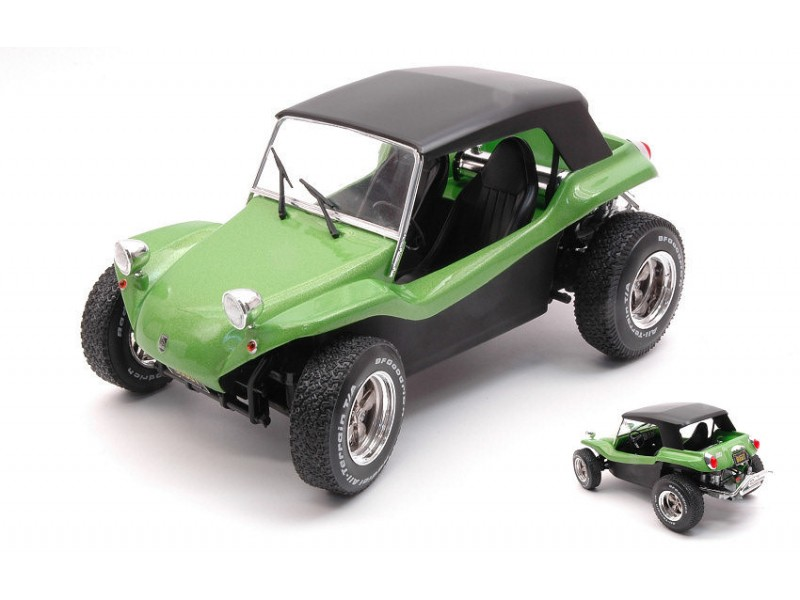SOLIDO 1/18 MEYERS MANX BUGGY SOFT ROOF 1968 VERDE MODELLINO