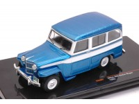 IXO MODELS 1/43 WILLYS JEEP STATION WAGON 1960 BLU MODELLINO