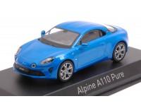 NOREV 1/43 ALPINE A110 PURE 2018 ALPINE BLUE MODELLINO