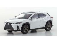 Kyosho 1/43 Lexus UX250H F Sport White novaglass flakes modellino