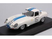BEST MODEL 1/43 JAGUAR E TYPE SPYDER N.15 LE MANS 1963 MODELLINO