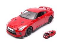 BURAGO 1/24 NISSAN GT-R 2017 RED MODEL