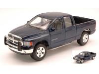 MAISTO 1/24 DODGE RAM QUAD CAB 2002 BLU MODELLINO