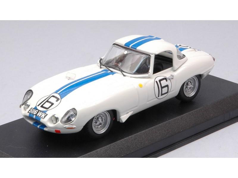 BEST MODEL 1/43 JAGUAR E TYPE SPYDER N.16 LE MANS 1963 MODELLINO