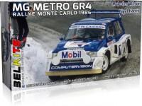 Belkits 1/24 MG Metro 6R4 Rally Monte Carlo 1986 kit di montaggio